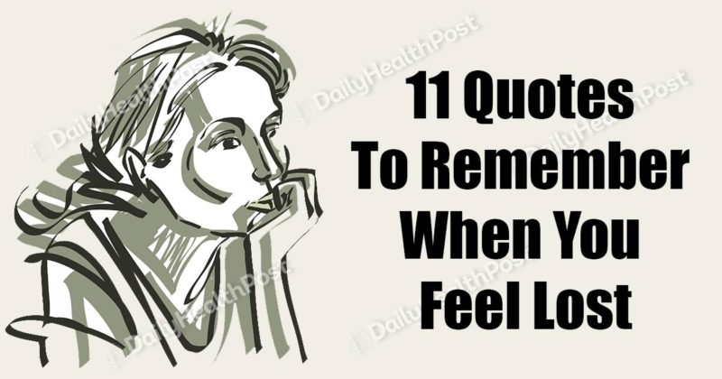 quotes to remember when you feel lost