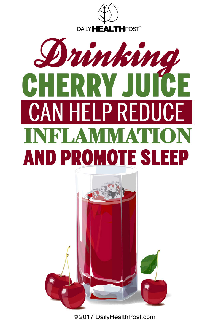 how much tart cherry juice daily for inflammation