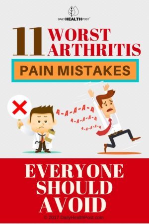 arthritis pain mistakes