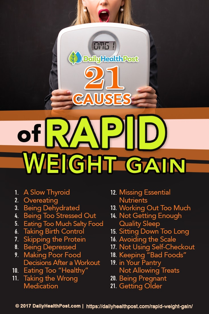 21 weird reasons for rapid weight gain most people never