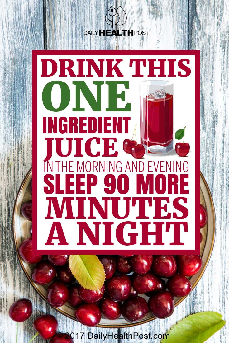 tart cherry juice sleep