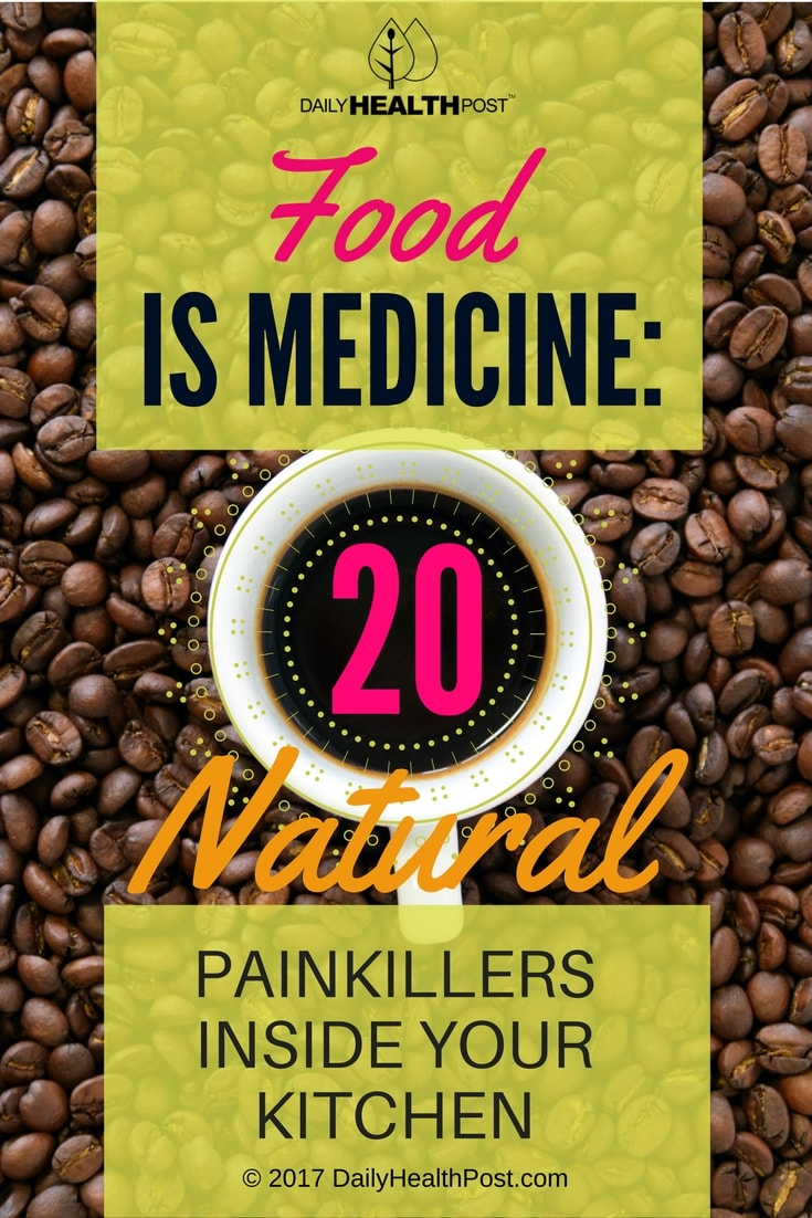 natural painkillers in kitchen