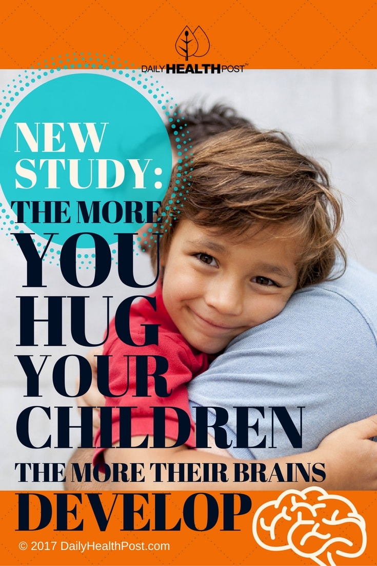 hug children develops brain